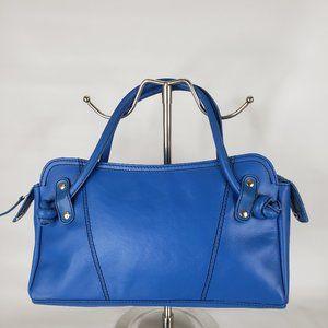 Spiegel Blue Leather Handbag
